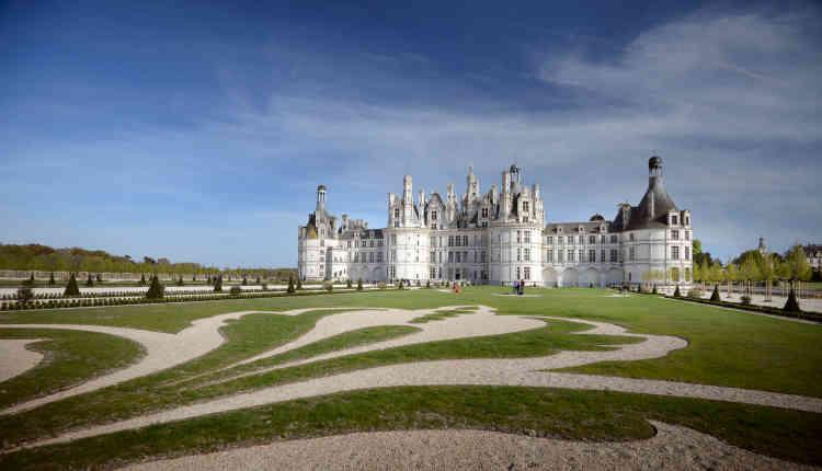 Le tracé de cette broderie est caractéristique des dessins de jardins français du XVIIIe siècle.