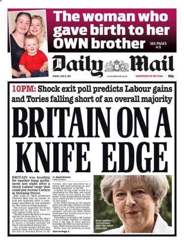 « La Grande-Bretagne sur le fil », titrait le« Daily Mail», dans sa première édition.