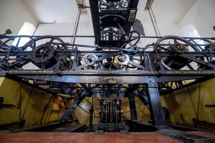 Le mécanisme qui entraîne les aiguilles de Big Ben sera démantelé et nettoyé durant les travaux.