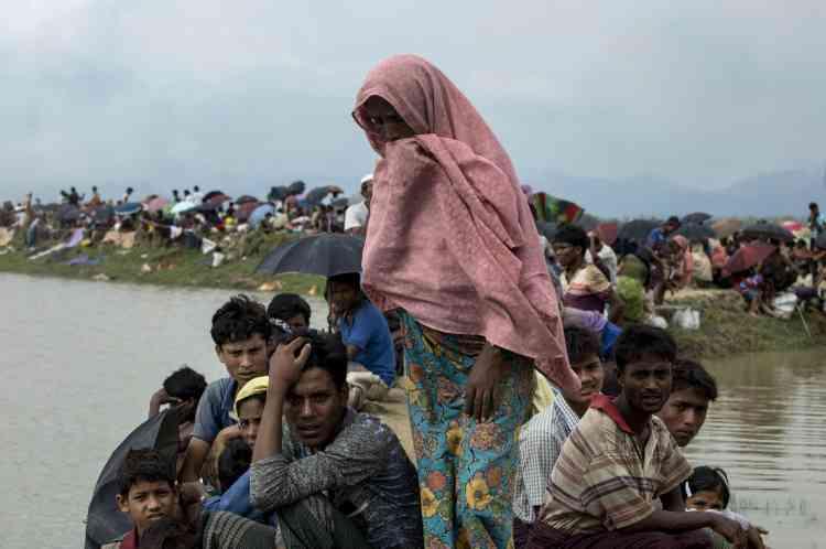 A Ukhia, au Bangladesh, près de la frontière avec la Birmanie, le 4 septembre.