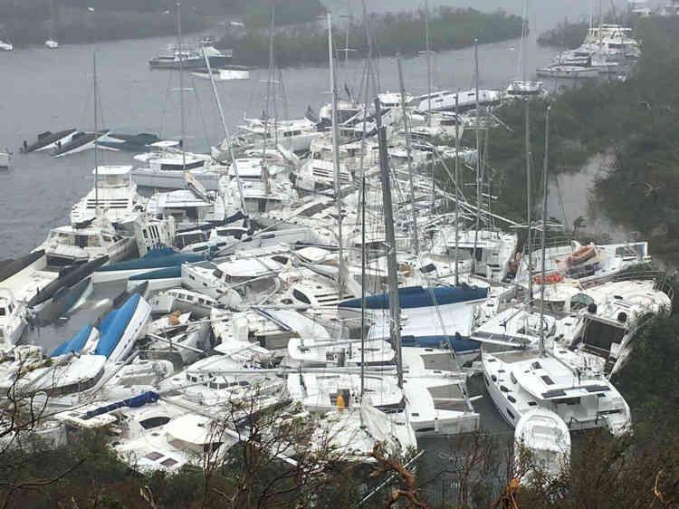 Les dégâts matériels étaient impressionants aux îles Vierges britanniques (photo). Mais ils étaient dramatiques à Barbuda, unepetite île de 1 600 habitants «totalement dévastée » selon son premier ministre.