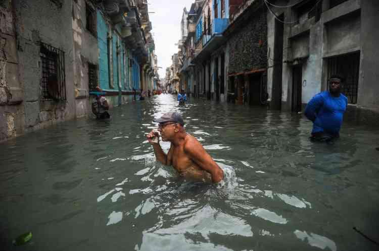 La Havane, le 10 septembre. Quatre mille personnes avaient été évacuées de la ville à l'approche d'Irma.
