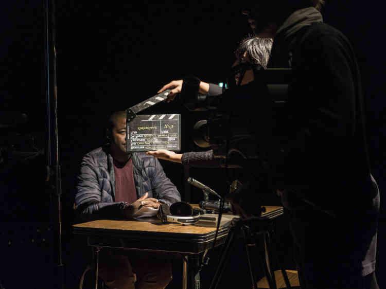 Au Théâtre des Ilets, répétition du Nimis Groupe, un collectif rassemblant des comédiens et des demandeurs d'asile, qui présentait les 4 et 5 octobre leur spectacle intitulé«Tous ceux que j'ai rencontrés ne m'ont peut-être pas vu».