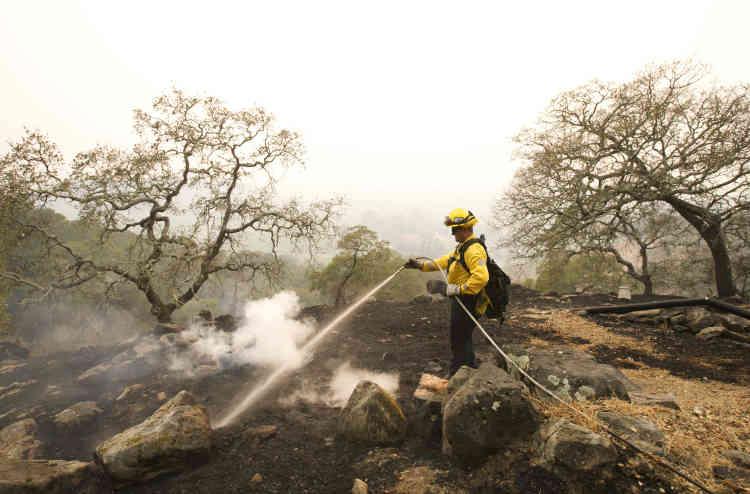 Plusieurs exploitations de cette région très viticole, parfois centenaires, ont été totalement ou partiellement détruites; certaines étaient toujours mercredi dans la trajectoire des flammes.