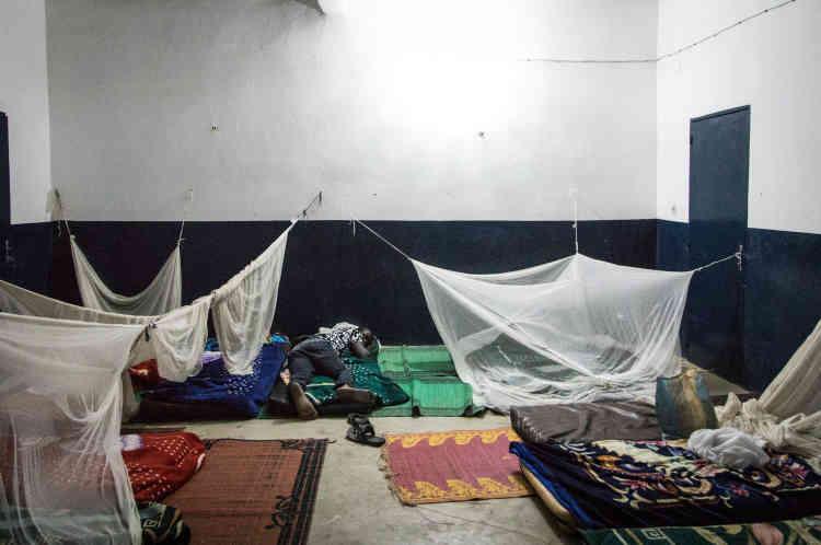 Le centre de transit où dorment les familles entendues dans le cadre de la mission de l'Ofpra à N'Djamena.