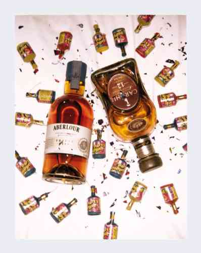 Whisky Triple Cask, 19ans d'âge, 35€, Aberlour.Coffret whisky roy 12ans d'âge, avec deux verres, 29€, Cardhu.