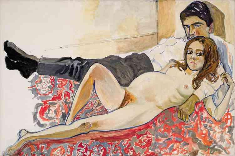 « Julie enceinte et Algis», 1967.