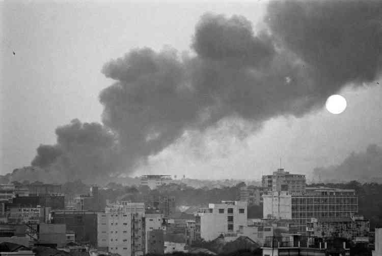 Le jour se lève sur Saïgon, au neuvième jour de l'offensive du Vietcong surla capitale du Sud-Vietnam.