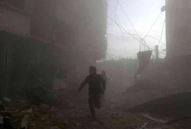Dans la Ghouta orientale, le 8 février.