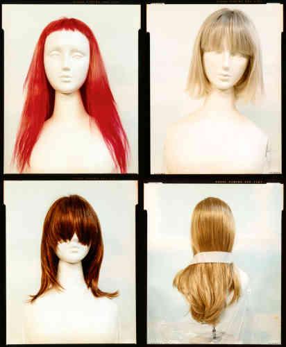 Margiela, perruques des collections automne-hiver1992-1993, 2007-2008 et 2000-2001.