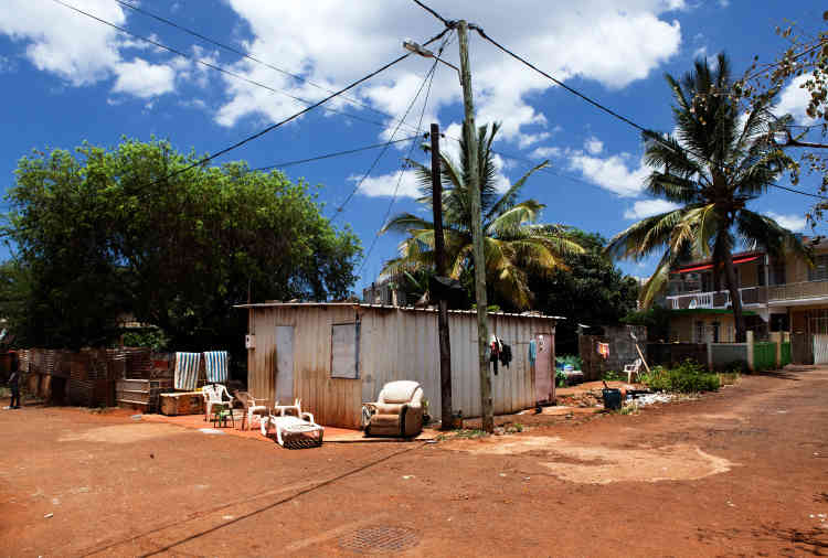 Quartier de Batterie-Cassée, rue Diego-Garcia: un nom emprunté à l'île principale des Chagos, devenue depuis une base militaire américaine.