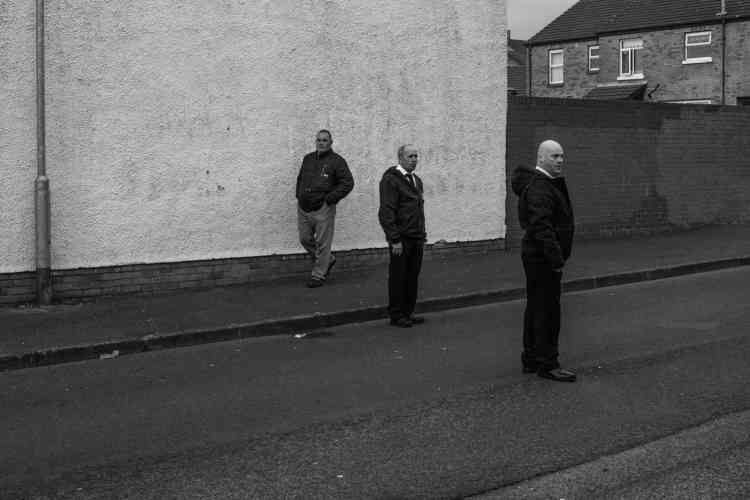 Dans le quartier républicain d'Ardoyne, à Belfast, en 2014, lors de la commémoration de l'insurrection de Pâques (en 1916) contre les Britanniques.