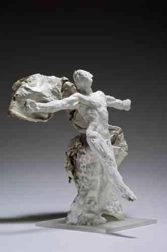 «Cette œuvre est un exemple de l'usage que Rodin fait du textile dans ses sculptures. Il utilise un tissu qu'il arrange autour de la sculpture et enduit la toile d'une fine couche de plâtre pour la maintenir en place. C'est le cas du Mercure dont le drapé mouvementé devient un élément sculpté à part entière. Ainsi porté par son voile, Mercure n'est pas sans évoquer Loïe Fuller.»
