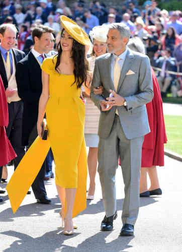 L'avocate Amal Clooney, et son mari, acteur, George.