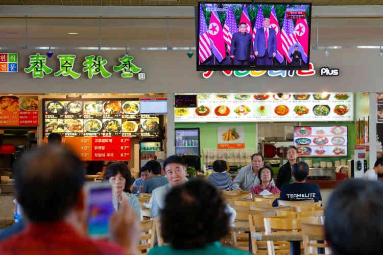 A «Koreatown», plus de la moitié des quelque 124 000 habitants sont d'origine coréenne.