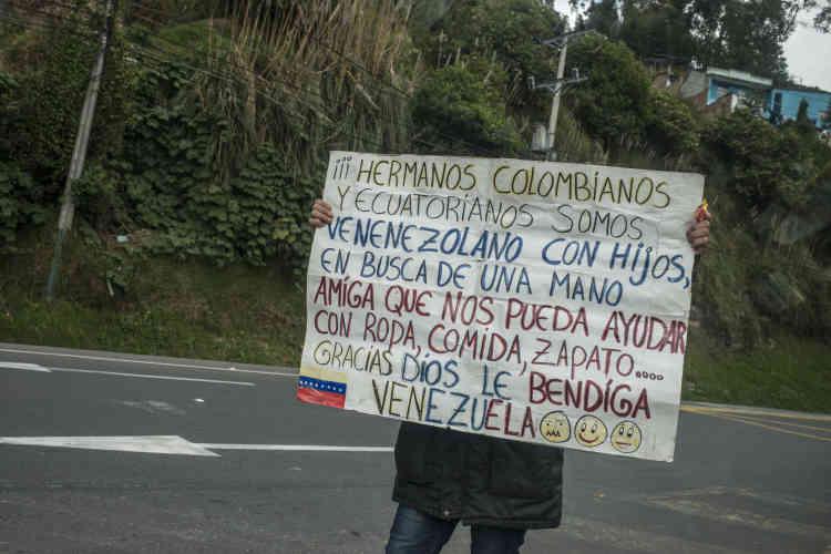 Un Vénézuélien demande de l'aide à ses« frères Colombiens et Equatoriens ».