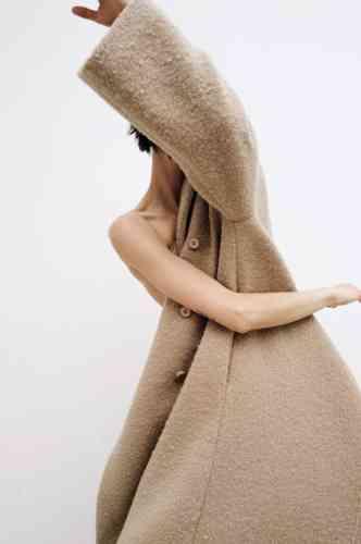 Manteau en laine et mohair, Kenzo.
