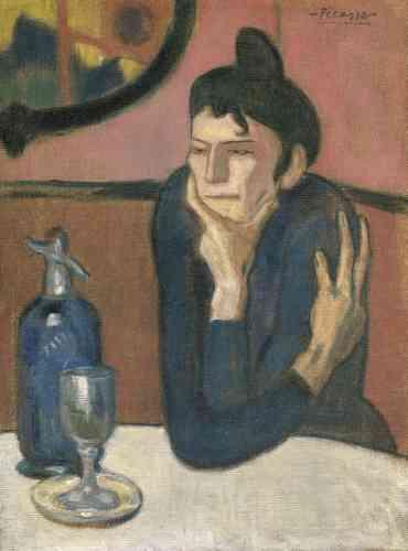 Dès les premiers mois de l'année 1905, sa gamme de couleurs s'élargit. Ce passage s'opère, au début, sans modification majeure du style des figures: les «déformations expressionnistes» ressemblent à celles utilisées dans sa «période bleue».