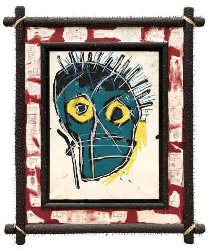 «Dans le cadre de la première exposition des dessins de Basquiat, sa série de têtes sur papier a été présentée à la galerie Robert Miller, située à New York, en novembre 1990. Ces représentations uniques constituent un exemple du dynamisme de Basquiat, de ses premiers graffitis muraux à ses peintures sur toile, bois ou carton. Abandonnant toute représentation formelle, leur nature expressive incarne la rébellion de l'artiste: contre la société, contre les conflits internes dus à son ascension fulgurante qui atteint son apogée en 1983.»