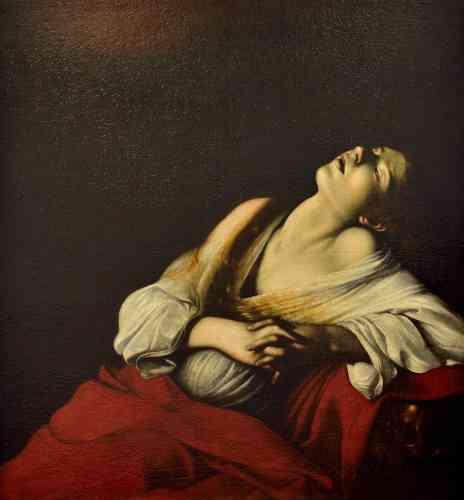 Francesca Cappelletti : «En son temps, cette toile eut un grand succès, probablement à cause de la représentation de l'extase, thème central de l'expérience religieuse. Cette peinture est présentée pour la première fois en Europe.»