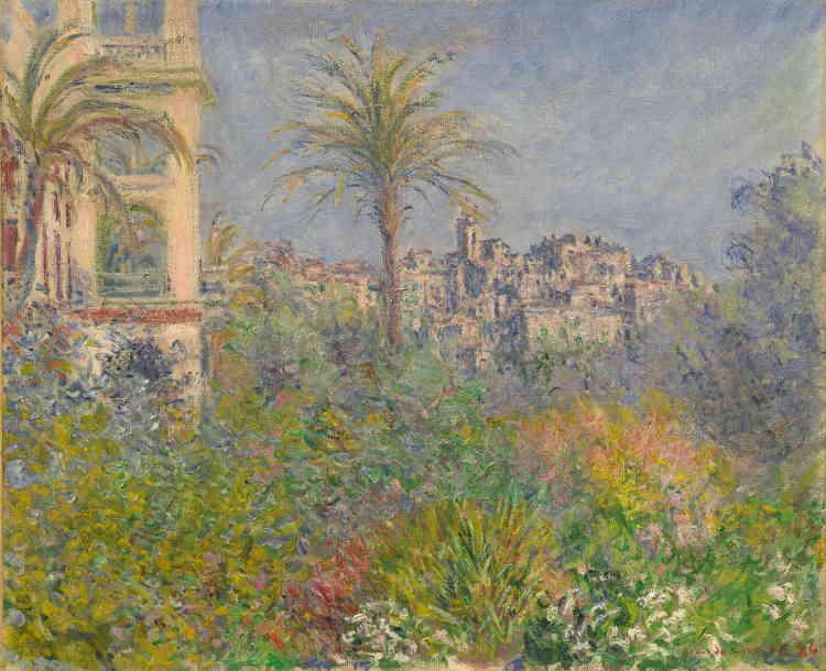 «ClaudeMonet part pour la première fois sur la côte méditerranéenne, en décembre 1883, en compagnie de Renoir. Il poursuit son voyage seul, sur la Riviera italienne, en janvier 1884. A Bordighera, il découvre une végétation luxuriante et une lumière féerique. »