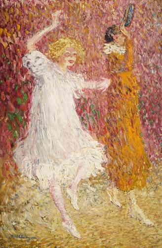 """«A propos de cette toile, peinte en 1905 en pleine période fauve, par petites touches séparées de couleurs pures, le biographe de Kees van Dongen, Louis Chaumeil, évoquera chez l'artiste un """"fauvisme-tachiste"""". Félix Fénéon, le critique d'art qui donna son nom au style néo-impressionniste (le pointillisme), l'acquit à l'issue de son exposition.»"""