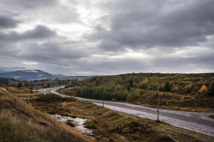 Sur la route du site de l'ancienne mine de charbon, maintenant abandonnée.