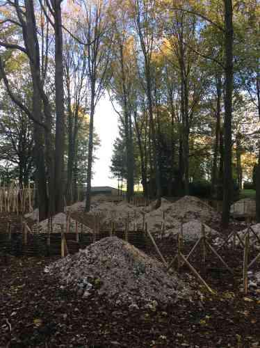 Le jardindes paysagistes anglais, à Thiepval, a pris le nom de ces nymphes des arbres et des bois qu'invoquait Chateaubriand. Il a la forme d'un parcours délimité par des poteaux et des fils de fer protégeant les plantations amenées à grandir, mais évoquant les barbelés des tranchées. Les monticules de craie, eux, rappellent les blessures infligées au sol par les obus. La végétation spontanée, dans les années à venir, devrait les coloniser, redonnant ainsi dans ce lieu la primauté à la vie.