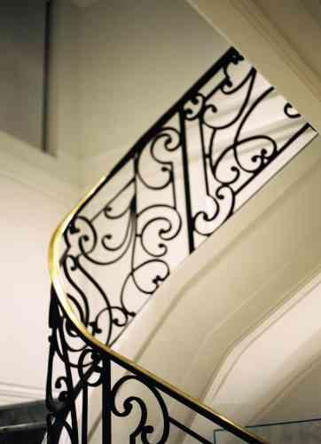 L'escalier menant aux archives.