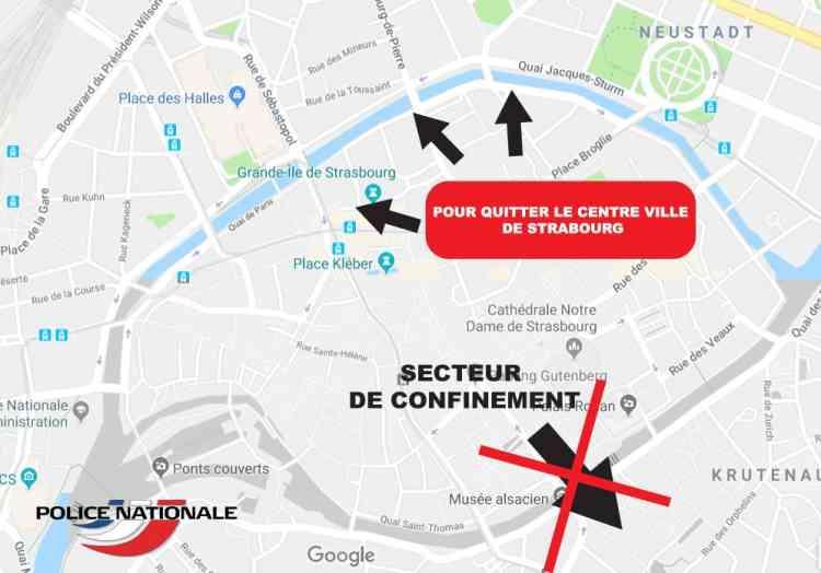 Après l'attaque de mardi soir, le centre historique de Strasbourg a été bouclé par les forces de l'ordre pendant plusieurs heures.
