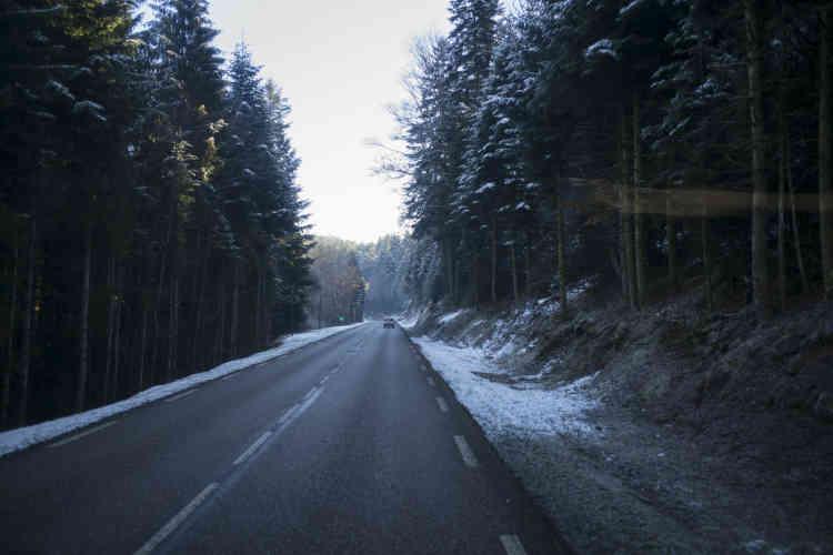 Sur la route entre Epinal et Saint-Dié-des-Vosges.