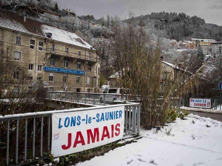 Kilomètre 0. Le centre hospitalier Louis-Jaillon, à Saint-Claude (Jura), le 30 janvier.
