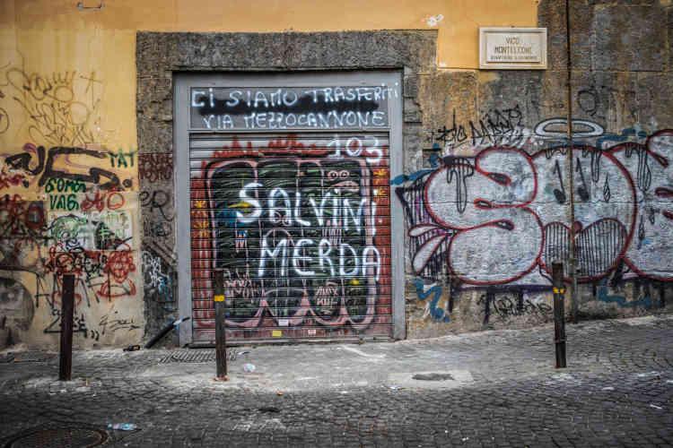 D'après Pascal, cette inscription fait référence à la loi sur la sécurité défendue par Matteo Salvini et approuvée par l'Assemblée, fin 2018, qui remet en cause le système d'accueil italien, avec notamment l'abrogation du sytème de protection humanitaire.