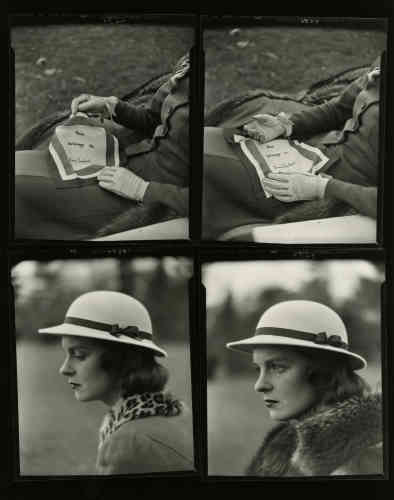 """«Un photographe incontournable dont la galerie de Howard Greenberg représente l'Estate. Le mouchoir que tient ce modèle, entre ses mains, est celui de Diana Vreeland: son nom est cousu dans la partie supérieure. Un clin d'œil adressé à une grande figure du monde de la mode –qui apparaît dans une photographie de James Karales aux côtés de Cecil Beaton, en1965. Rédactrice en chef du magazine """"Harper's Bazaar"""", elle a contribué à façonner le regard de nombreux photographes et à faire de ce genre un véritable langage en soi.»"""