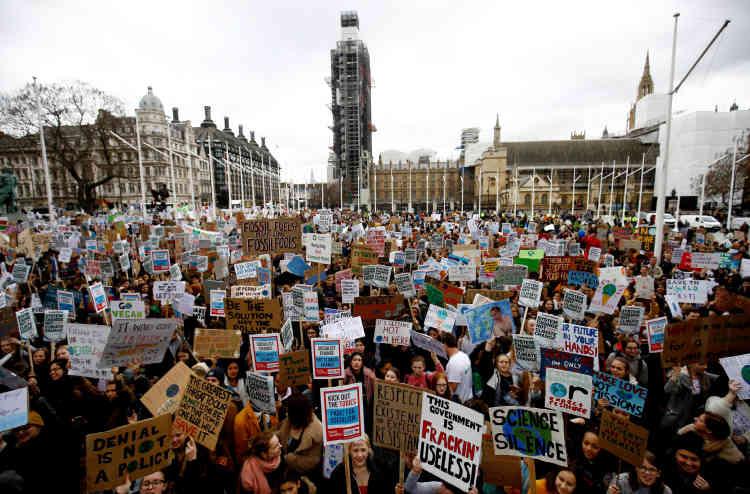 La mobilisation à Londres.