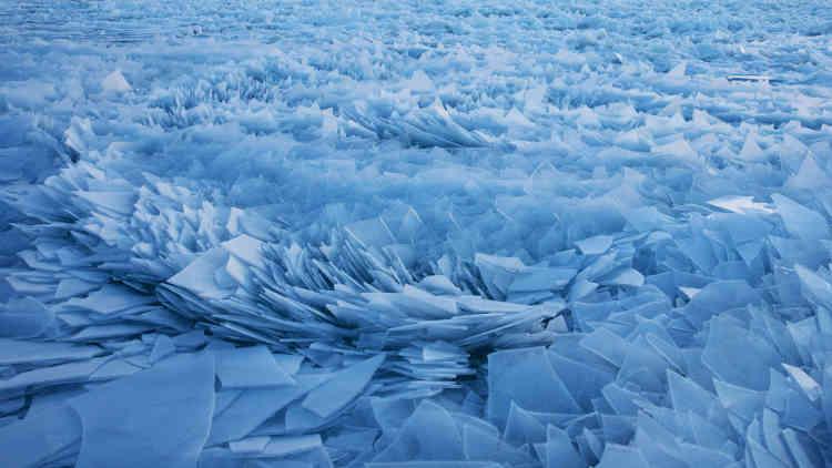Le lac Michigan, le 19 mars.