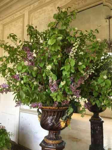 Une composition florale... spectaculaire.