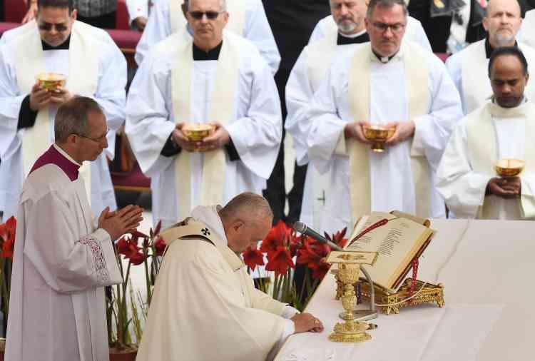 Le pape François, le Vatican, 21 avril 2019.