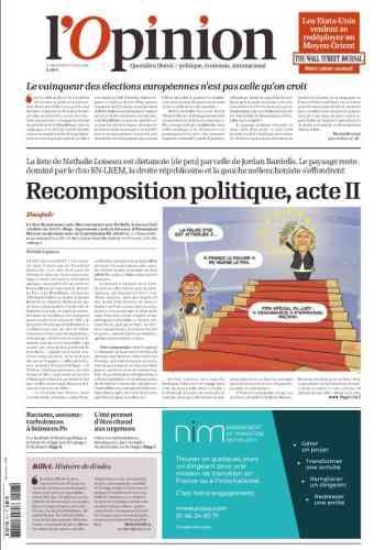 Le journal« L'Opinion» parle d'une «recomposition politique acte II», faisant référence à celle enclenchée lors de la présidentielle en 2017.«C'est le chef de l'Etat, qui sort vainqueur des élections», va jusqu'à dire l'éditorialiste Nicolas Beytout.