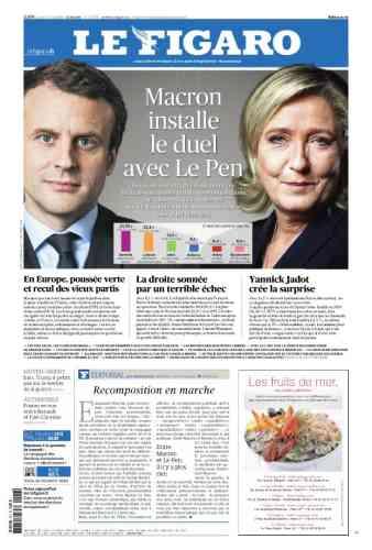 Dans « Le Figaro », le résultat de l'élection sonne comme un duel. L'éditorialiste Guillaume Tabard le compare à«une réplique du séisme de 2017 ».