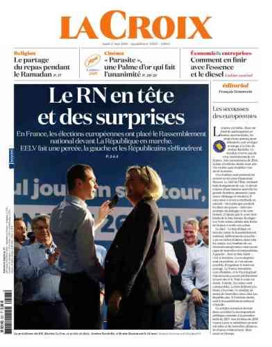Pour« La Croix», le scrutin a révélé « des surprises». Son rédacteur en chef, François Ernenwein, pense que «ces résultats sont un sérieux revers pour Emmanuel Macron».