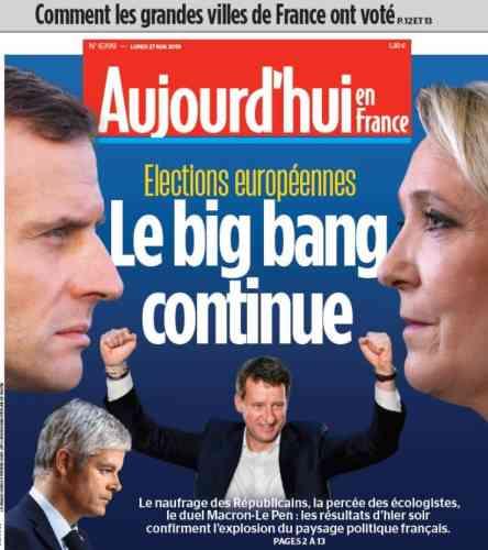 Pour « Le Parisien », ce scrutin a un air de déjà-vu, rappelant le second tour de la présidentielle de 2017. Le « big bang » politique se poursuit, « Macron et Le Pen poursuivent leur tête-à-tête ».
