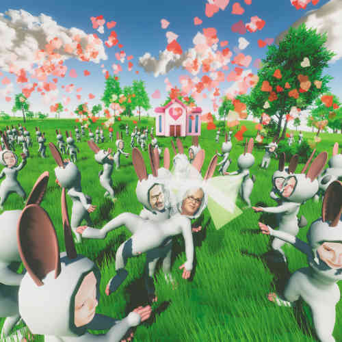 «L'artiste propose à chaque visiteur de l'exposition de créer son double numérique à partir de l'ensemble de ses données personnelles disponibles sur Internet. Le double prend alors la forme d'un lapin anthropomorphe qui vit de manière parallèle, dans un univers virtuel imaginaire, entouré d'autres avatars. »