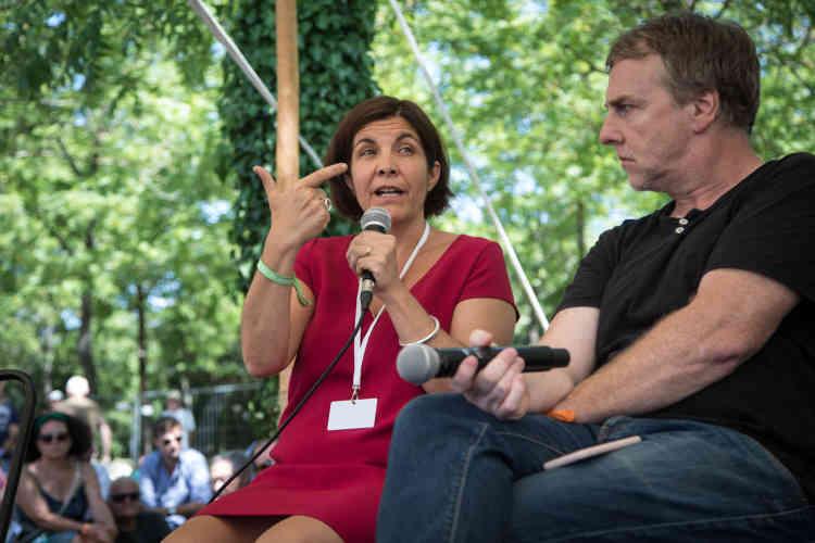 Céline Pigalle, directrice de la rédaction de BFM TV, est intervenue samedi 13 juillet.