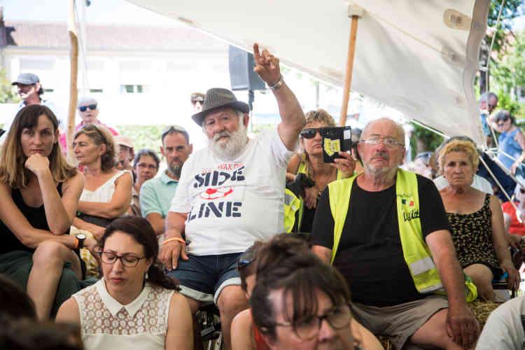 Débat sur les «gilets jaunes» et le traitement médiatique de leur mouvement, samedi 13 juillet.