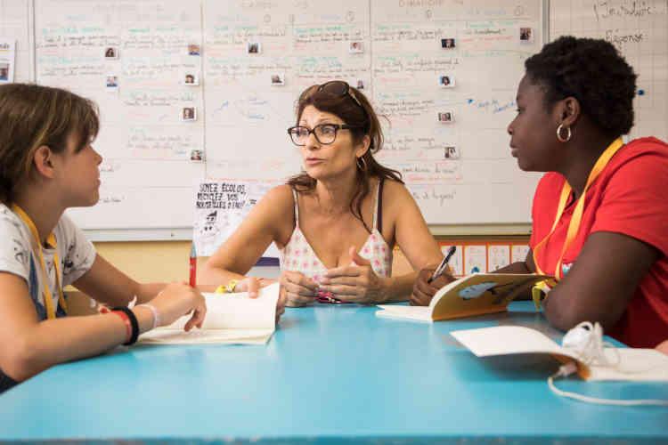 Entretien mené par les enfants participant à «La p'tite rédac'», samedi 13 juillet.