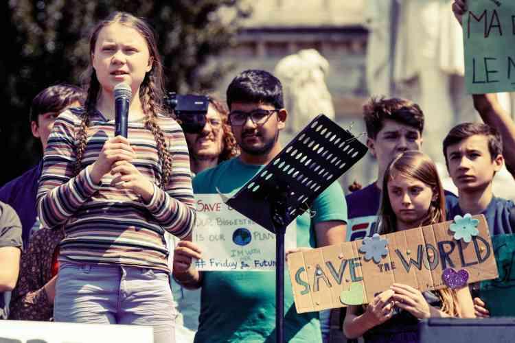 The grand parade of Greta Thunberg