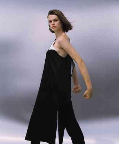Robe en satin et pantalon en coton, Ports1961.