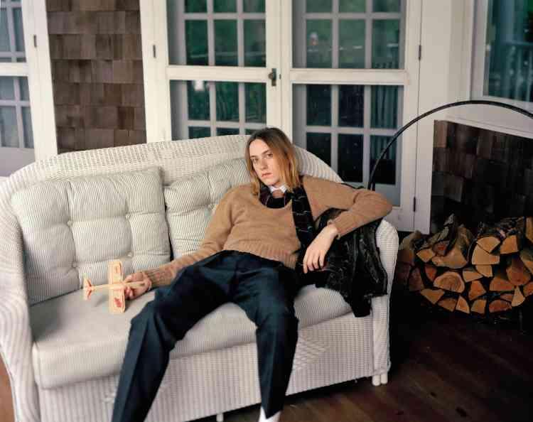 Pull, écharpe et pantalon en laine, Celine par Hedi Slimane.