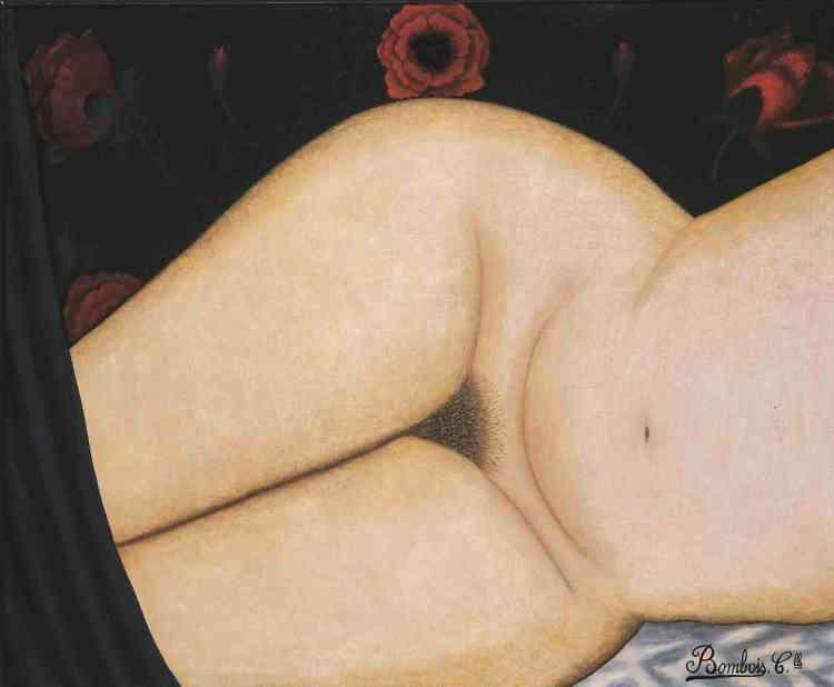 «La multiplicité des styles du travail de Camille Bombois surprend. Et les nus – qu'il réalisa en gros plan – étaient ses œuvres les plus abouties : ce qui peut sembler le plus choquant dans ce «Nude Face» est la découpe spatiale condensant le poids et l'exubérance de la chair dans l'entre-jambe du modèle, son épouse, tout en effaçant visage et mains. »